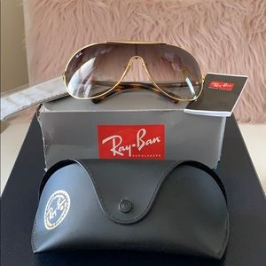 NWT Ray-Ban ORB3455L Brown/Gold Women Sunglasses